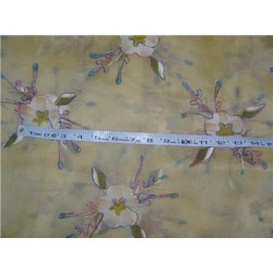 "100 % silk organza fabric 54"" embroidered PKT 27[3]"