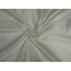 "Silk Brocade Fabric NATURAL WHITE color 44"" BRO589[3]"
