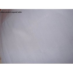 """100% cotton organdy fabric 44"""" wide-pleated white"""