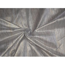 "Spun SILK BROCADE FABRIC silver & Gold COLOUR BRO549[5] 44"" wide sold by the yard"
