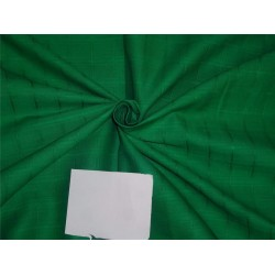 "Cotton Organdy Fabric Leno Checks Design 44"" Emerald Green"