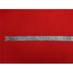 "Red cotton organdy 44"" ~micro check/window pane design medium finish"