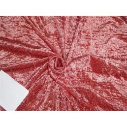 2.70 yds cut piece devore polyester viscose burnout salmon stripes velvet