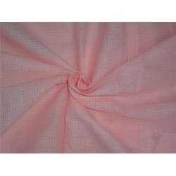 "peachy pink cotton organdy 44"" ~micro check/window pane design"