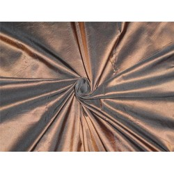 100% Silk Taffeta Fabric Copper x Black Color 60""