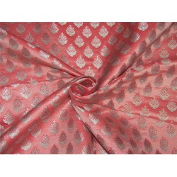 Brocade fabric pink x silver color 44''wide BRO644[1]