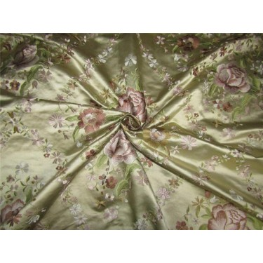 """100% pure silk 45 momme EMBROIDERED dutchess satin 54"""""""