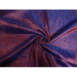 silk  brocade  vestment fabric  dark purple  & red BRO79[1]