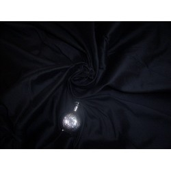 "RICH BLACK SILK DUPIONI 60"" WIDE"
