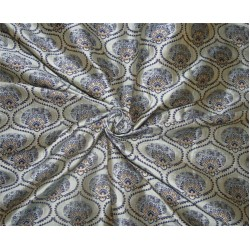 "Brocade fabric blueish grey/royal x metallic gold color 44"" wide by the yard bro615[4]"
