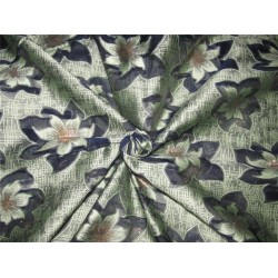 "Brocade fabric navy /mint x metallic gold color 60"" wide by the yard bro616[1]"