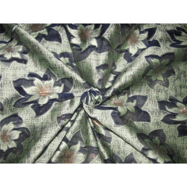 """Brocade fabric navy /mint x metallic gold color 60"""" wide by the yard bro616[1]"""