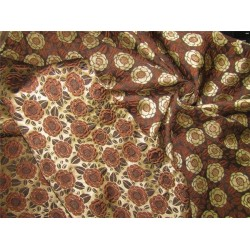 "Reversible Brocade fabric Brown & gold color 46"" wide bro612[2]"