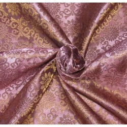 "Brocade fabric Pinkish lavender x metallic gold 44""wide Bro621[2]"