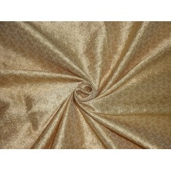 SPUN SILK BROCADE FABRIC light gold paisley BRO220[3]