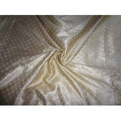 VISCOSE Spun BROCADE FABRIC gold x gold motifs