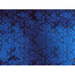 "SPUN SILK BROCADE FABRIC ROYAL BLUE COLOR bro188[5] 44"" wide  sold by the yard"
