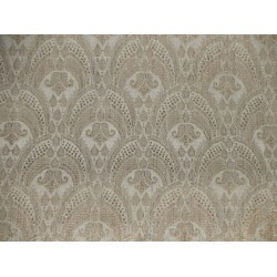 Faux Silk Brocade Fabric Gold metallic & Creamy Ivory  44""