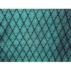 Spun  Brocade fabric dark green Color*