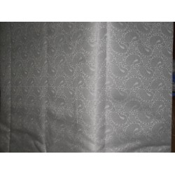 spun Brocade Fabric silver white paisleys BRO362[1]