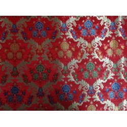 heavy satin weave multi colour brocade fabricbro363[4]