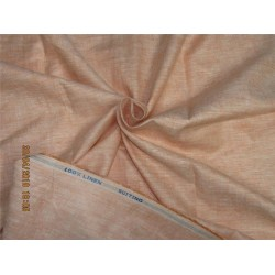 90 mm heavy linen suiting fabric peach color 58''wide