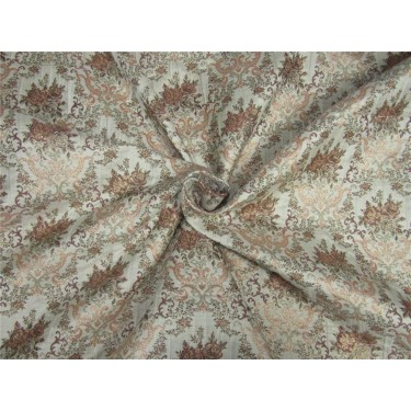 Silk brocade fabric ivory x blush pink color 56' inches by the yard bro591[2]