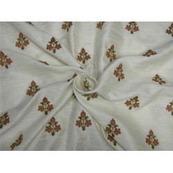 Embroider jacquard brocade fabric ivory color 44 inches by the yard bro591[1]