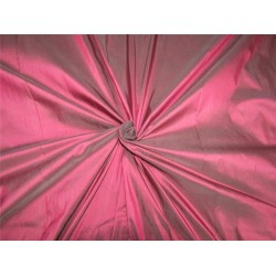 "100% pure silk dupioni Iridescent pink x grey color 54"" DUPA256[2]"