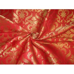 "Brocade fabric red x metallic gold 44"" BRO594[1]"
