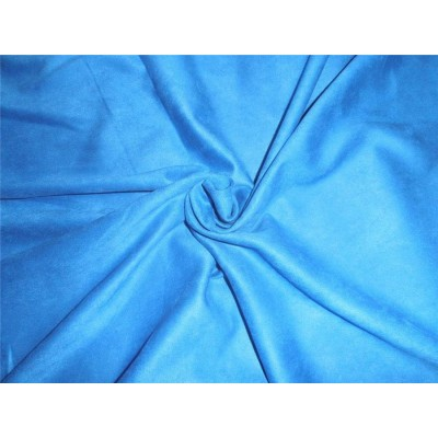 Scuba Suede Knit fabric 59 wide fashion wear blue COLOR