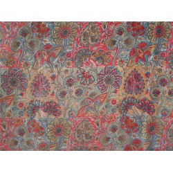 pure silk CDC crepe printed fabric 16 mm weight b2#101/4