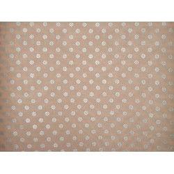 Cotton organdy floral printed fabric Peach Color
