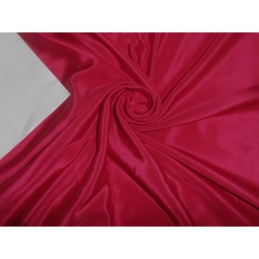 pure silk cdc crepe fabric 18 mm weight /54 inches wide/137 cms,fuchsia pink