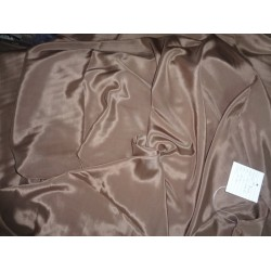 "gorgeous Pure Silk crepe fabric 54""-taupe brown"