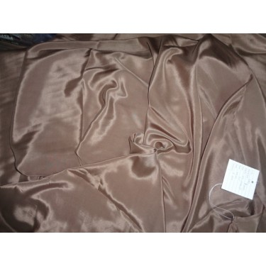 """gorgeous Pure Silk crepe fabric 54""""-taupe brown"""