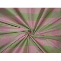 "100% SILK Dupioni FABRIC 54"" wide  PASTEL PINK AND GREEN  color plaids DUPC110[3]"