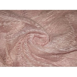 crushed sheer Baby Pink silk metalic tissue fabric PKT 14[2]