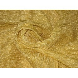 crushed sheer Golden Yellow silk metalic tissue fabric t