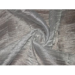 crushed sheer Silver Glitter silk metalic tissue fabric