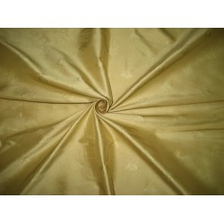 SILK Dupioni FABRIC Light Gold color with Jacquard