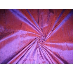 SILK Dupioni FABRIC Purple with Orange shot