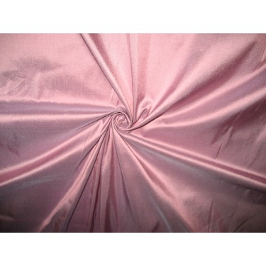 """100% SILK Dupioni FABRIC 54"""" Pink Champagne x blue color dup76"""