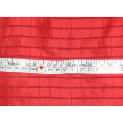Silk Dupioni Fabric Christmas Red colour plaids 44""