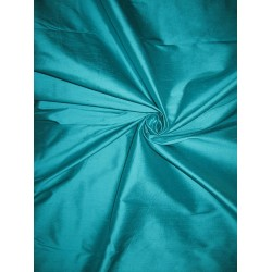 "SILK Dupioni FABRIC 44"" Ocean Blue colour"