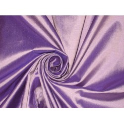 Pure SILK Dupioni FABRIC Lavender with Purple shot color 44""