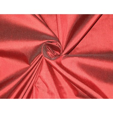 """Pure SILK Dupioni FABRIC Blood Red with Black shot color 54"""""""