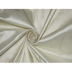 Pure SILK Dupioni FABRIC Light Gold & Greyish Gold stripes*