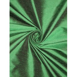 100% Pure SILK Dupioni FABRIC Dark Emerald Green 54""