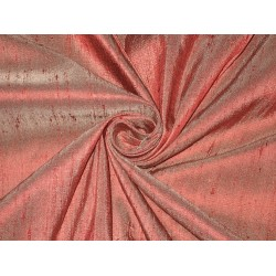 "100% Pure SILK Dupioni FABRIC Maroon with Ivory Shot 54"" wide sold by the yard"